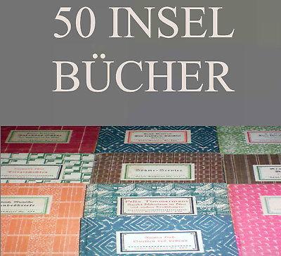 50 Bände Insel Bücherei IB Konvolut A WEITERE EINGESTELLT K 33, 31, 30, 28, 25