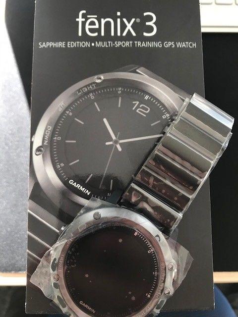 Garmin Fenix 3 Sapphire Edition Grau GPS-Uhr Saphirglas (NEU)