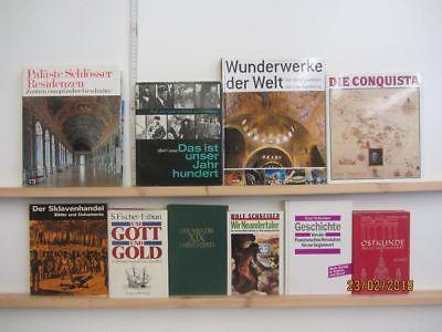 25 Bücher Bildbände Kunst Kultur Geschichte Weltgeschichte