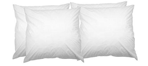 AmazonBasics Kissenbezug mit Reißverschluss, 100 % weiche Baumwolle, 80 x 80 cm, 4 Stück