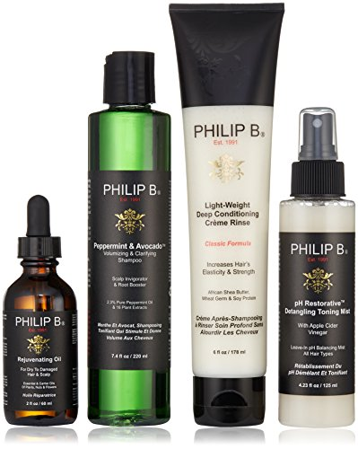 Philip B Four Step Hair + Scalp Treatment Kit Classic
