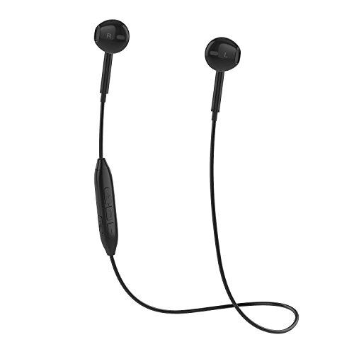 Bluetooth Kopfhörer V4.1 Stereo Bluetooth Headset mit Mikrofon Wireless Kopfhörer In Ear Bluetooth für iPhone/iPad/Samsung/Huawei ect., schweißfeste Sport Kopfhörer Bluetooth für Joggen, Laufen (schwarz)