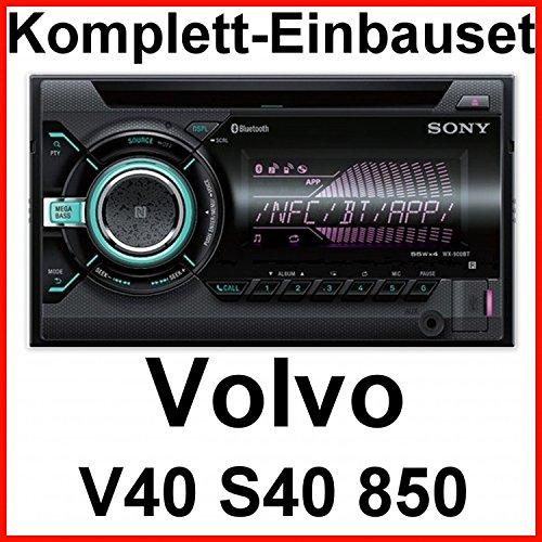 Komplett-Set Volvo S40 V40 850 Sony WX-900BT Bluetooth CD USB AUX MP3 Autoradio 2-DIN