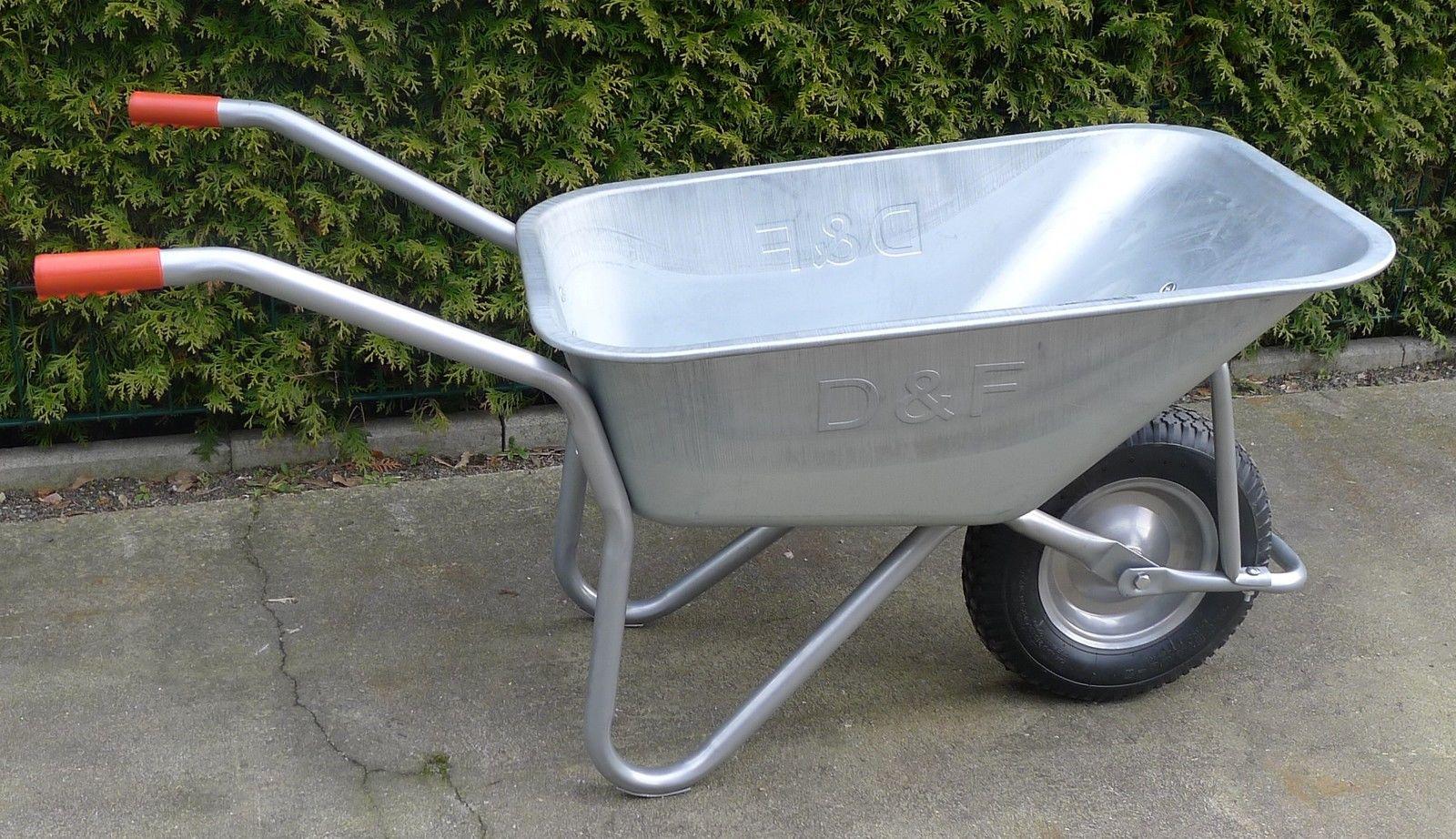 Schubkarre 200Kg für Garten, Bau und Stall  mit verstärkerter Wanne, robust