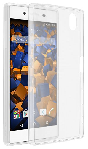 mumbi Schutzhülle Sony Xperia Z5 Hülle transparent weiss (Ultra Slim - 0.55 mm)