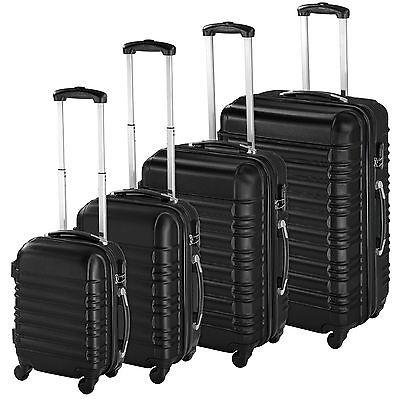 ABS Reisekoffer Set 4tlg. Trolley Kofferset Hartschalenkoffer Hartschale schwarz