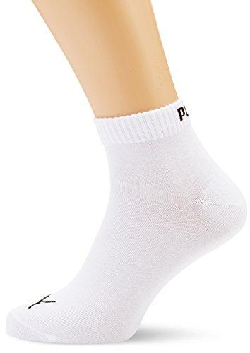 PUMA Unisex Quarter Quarters Socken 12er Pack, Größe:35-38;Farbe:white
