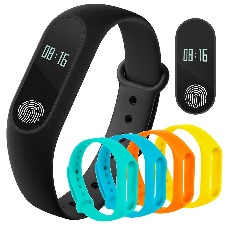 Touch Smartband Aktivität Fitness Tracker Bluetooth Schrittzähler Blutdruck Puls