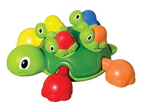 TOMY Schildkrötenfamilie / Bunter Bade- und Lernspaß für Badewanne, Pool und Schwimmbad / Ab 12 Monate