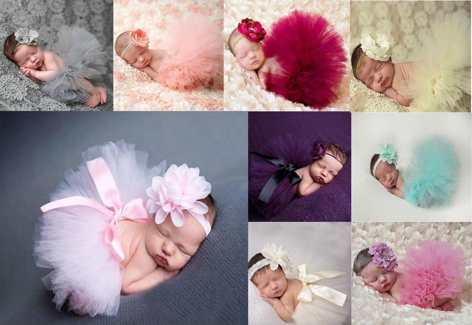 Baby Set Tutu Rock + Stirnband Fotoshooting NEU