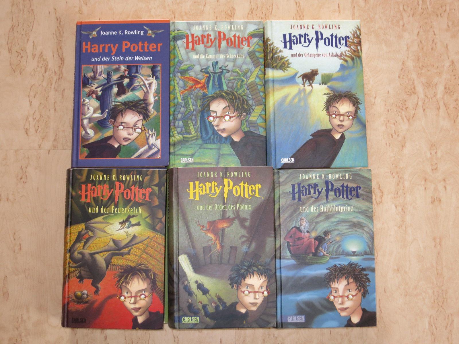 Joanne K. Rowling - Harry Potter Bücher Band 1-6 Hardcover
