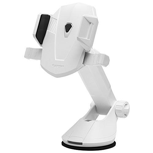 Spigen Kuel TS35(AP12T),Handyhalterung Auto,360 Grad,Ein Hand Bedienung,für Windschutzscheiben und Armaturenbretter-Weiß