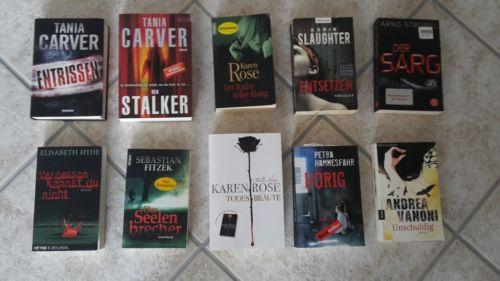 Bücherpaket Krimis Und Thriller 10 Stück