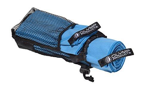 2er-Pack Olympproducts Mikrofaser Handtücher mit Tasche: 1 Microfaser Badetuch XXL und 1 Mikrofaser Gesicht - leicht und schnelltrocknend