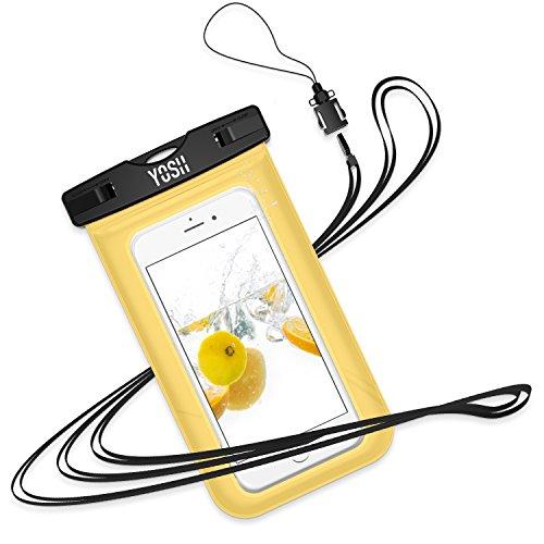 Wasserdichte Hülle Tasche Beutel Handyhülle [IPX8 Technische Zertifizierung] YOSH® für IPhone X 8 7 6 6s Plus schneegeschützt Schnorcheln Tauchen Unterwasser Fotografieren Samsung S6 S7 S8 Note LUMIA 950 Huawei BQ Aquaris HTC, bis zu 6 Zoll?LEBENSLANGE GA