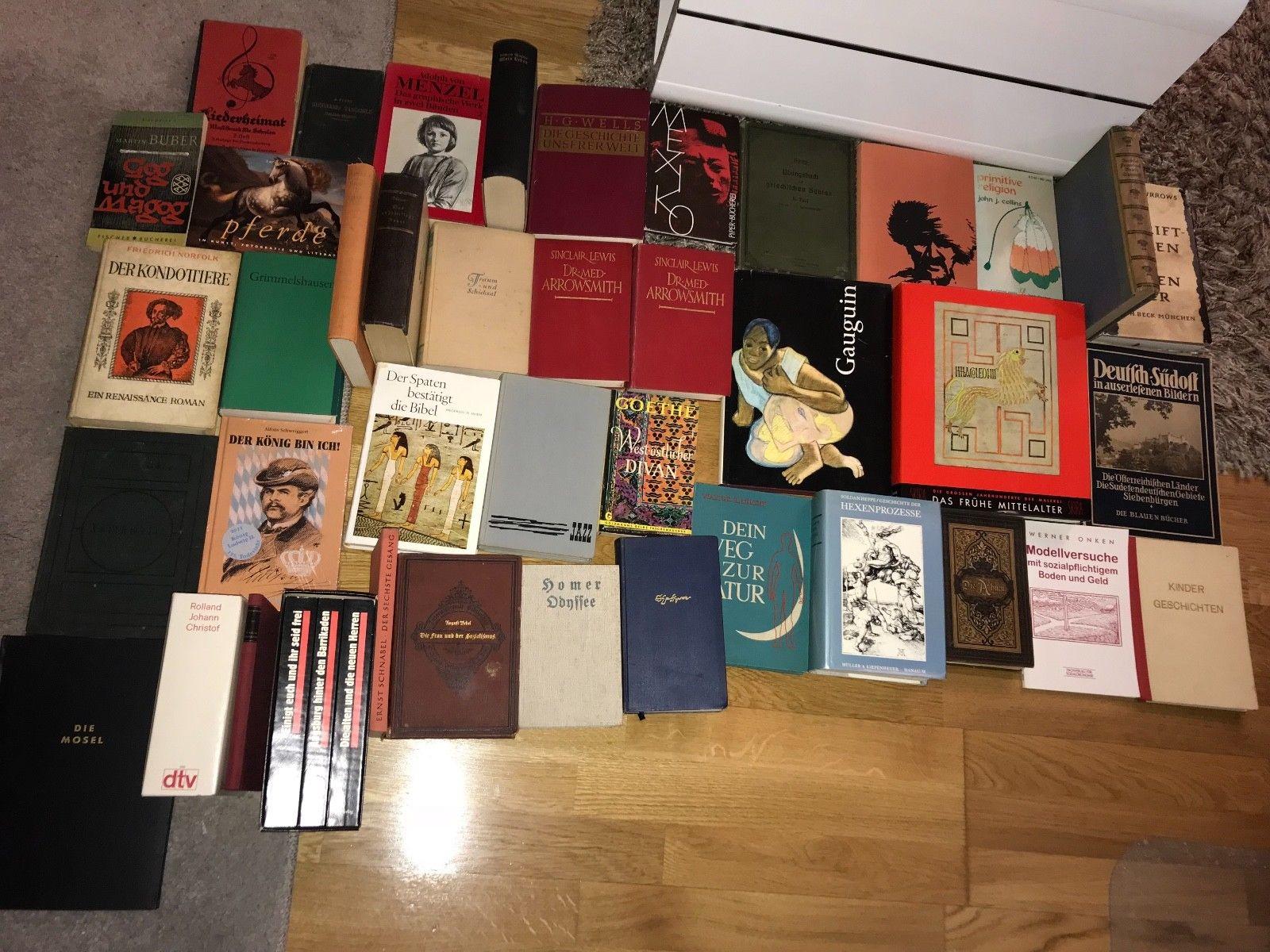1877-2000 antiquarische Büchersammlung Buchpaket antik Konvolut 45 Stk. ca.290€