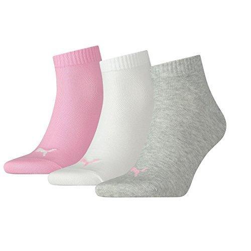 PUMA Unisex Quarters Socken Sportsocken 12er Pack (39/42, Prism Pink)