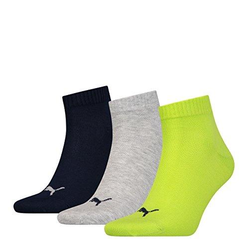 PUMA Unisex Quarter Quarters Socken 12er Pack, Größe:47-49, Farbe:Lime Punch (064)