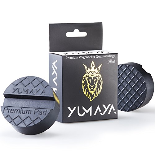 Premium Wagenheber Gummiauflage für Rangierwagenheber - Universal Gummipuffer für Hebebühnen - Perfekter Schutz beim Reifenwechsel PKW und SUV - Auflage-Wagenheber von YUMAYA (Flach)
