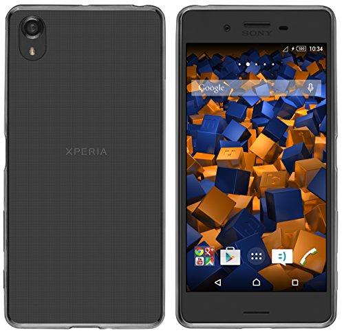 mumbi UltraSlim Hülle für Sony Xperia X Performance Schutzhülle schwarz transparent (Ultra Slim - 0.55 mm)