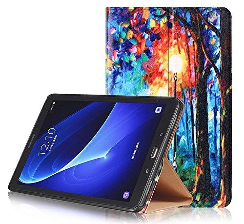 KATUMO Samsung Galaxy Tab A 10.1 Case, [Flip Book Case] PU Leder Hülle Slim Case Schutztasche für Samsung Galaxy Tab A 10.1 (SM-T580 / T585) Tasche, Romantische Straße