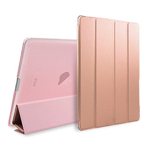 SAVFY iPad 2/3/4 Hülle Roségold iPad Schutzhülle Auto Sleep / Wake up Funktion Case mit Magnet Smart Cover für iPad 2, iPad 3, iPad 4, roségold