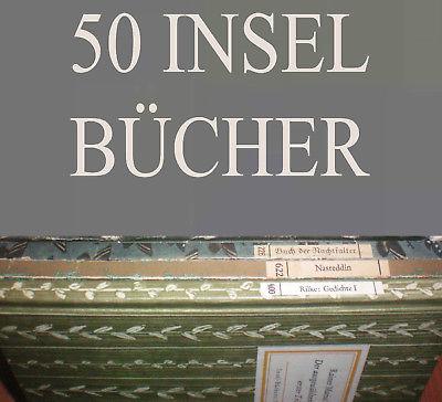50 Bände Insel Bücherei IB Konvolut A WEITERE EINGESTELLT K 12, 7, 32, 29, 27