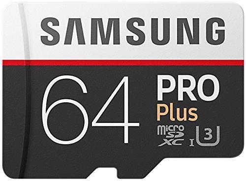 Samsung PRO Plus Micro SDXC 64GB bis zu 100MB/s, Class 10 U3 Speicherkarte (inkl. SD Adapter)