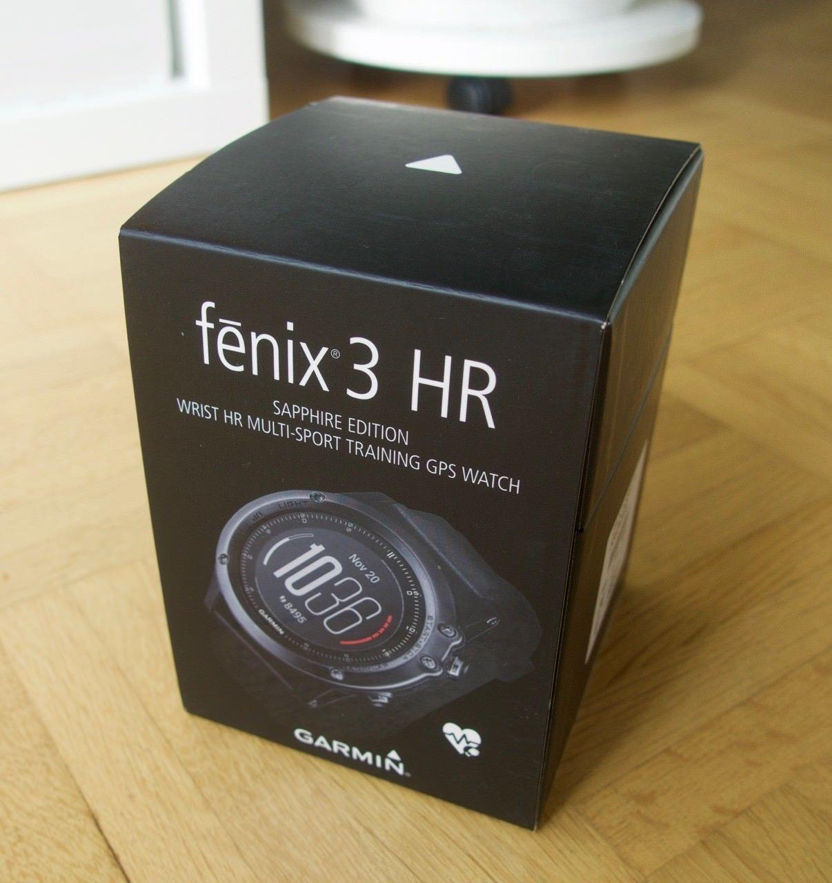 Garmin Fenix 3 HR Saphir, schwarz, GPS Multifunktionssportuhr