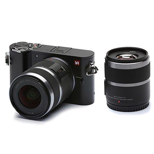 YI Technology M1 95013 Mirrorless Digitalkamera (20 MP, 4K Video,12-40m, F3,5-5,6, Objektiv/42,5mm F1,8 Objektiv) schwarz
