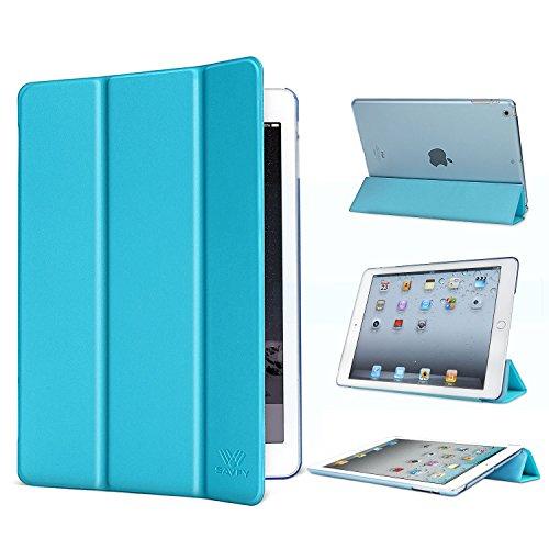 SAVFY iPad 2/3/4 Hülle Ultra Dünn iPad 3 Hülle mit auto Aufwachen/Schlaf Funktion Schutzhülle für iPad 2, iPad 3, iPad 4, blau
