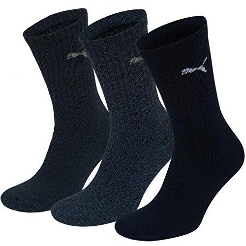 Puma Unisex Crew Socken Basic Sportsocken 12er Pack, Größe:47-49;Farbe:new navy