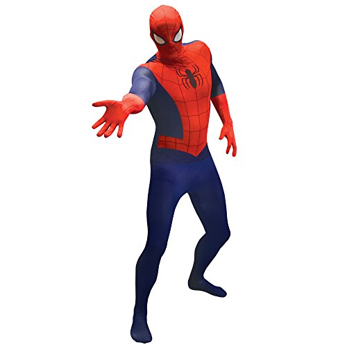 Morphsuits Offizieller Spiderman Basic , Verkleidung, Kostüm - X-Large 5'10 - 6'1 (176cm - 185cm)
