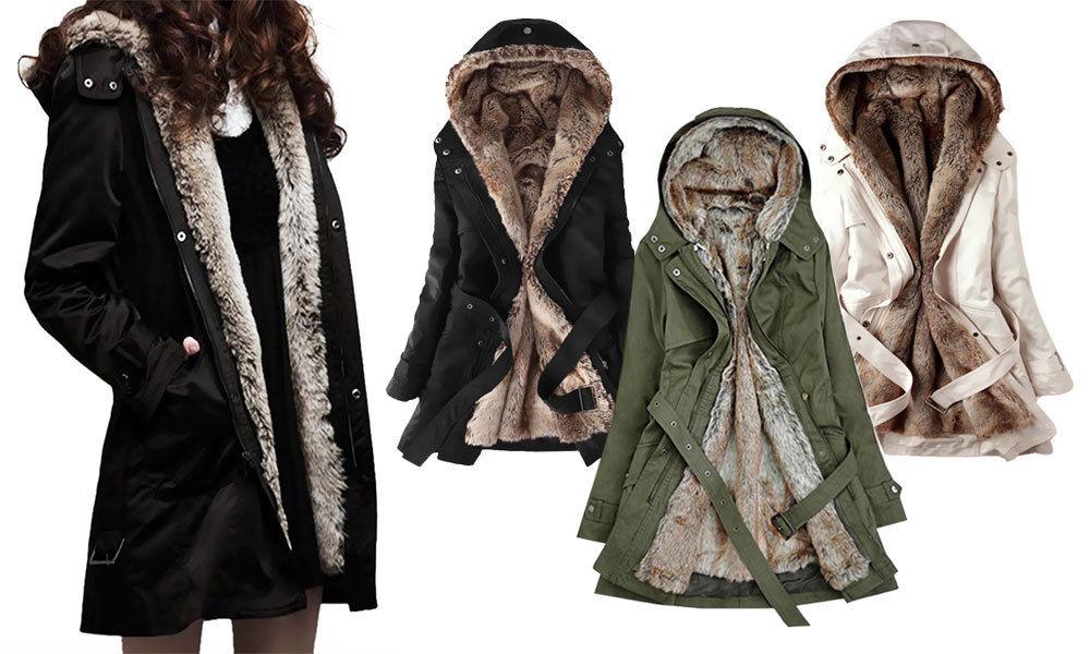 Damen Mantel Neu Winterjacke gefüttert warm Parka Jacke XS-L Damenmantel Stepp