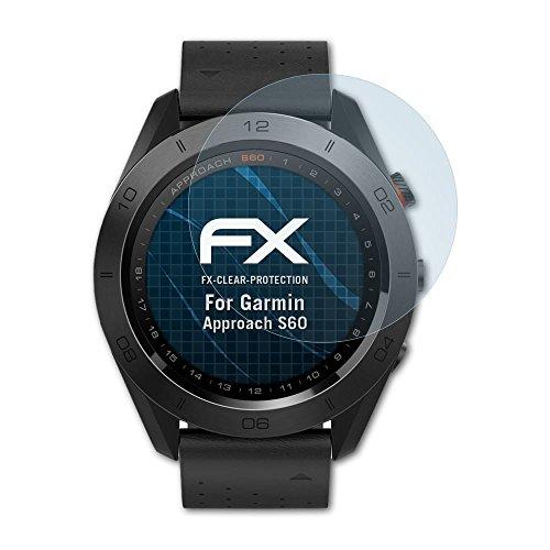 Garmin Approach S60 Schutzfolie - 3 x atFoliX FX-Clear kristallklare Folie Displayschutzfolie