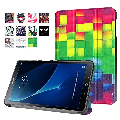 Samsung Galaxy Tab A T580N Hülle- PU Leder Schutzhülle für Samsung Galaxy Tab A6 10.1 Zoll SM-T580N/T585N Cover Tasche Etui mit Support-Funktion