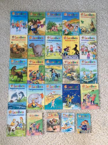 Leselöwen Kinderbücher Konvolut Paket Sammlung 25 Stück Buch
