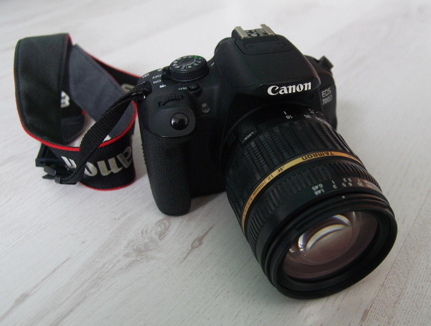 Canon EOS 700D mit Tamron 18-200mm Zoom DSLR Kamera