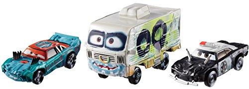 Mattel Disney Cars FBP86 - Disney Cars 3 Die-Cast 3er-Pack 2 x 1:55, 1 x Oversized - Fishtail, APB, Arvy