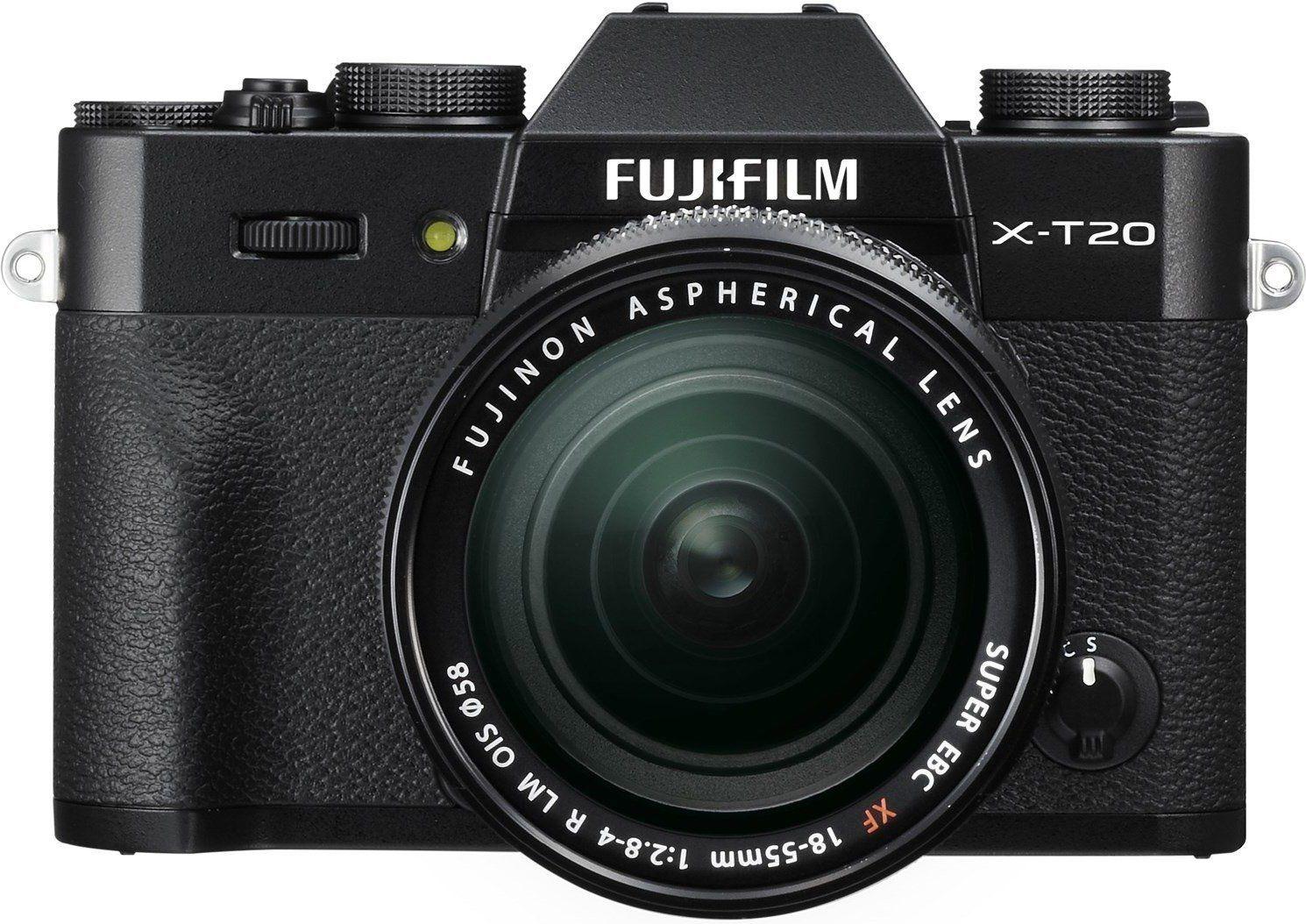 FUJIFILM X-T20 Systemkamera 24.3 Megapixel + Objektiv 18-55 mm f/2.8, 7.6 cm NEU