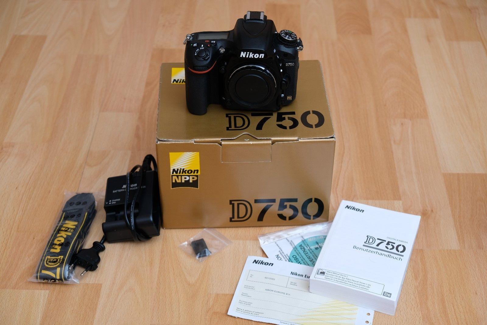 Nikon D750 24.3 MP, sehr guter gebrauchter Zustand