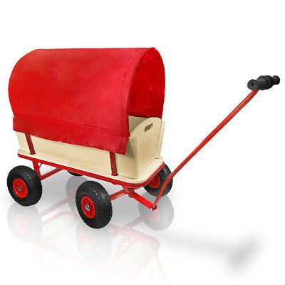 Bollerwagen Handwagen mit Plane 150 kg mit Luftbreifung Transportwagen