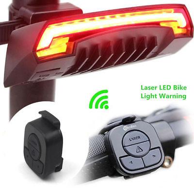 LED Fahrrad Rücklicht Meilan X5 USB Blinker Laser Remote Fernbedienung Lampe