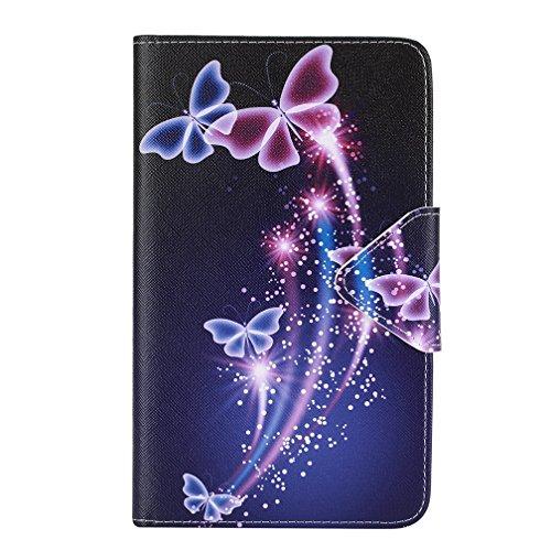 Galaxy Tab 4 T235N Cover Case,Slim-Fit PU Leder Tasche Flip Cover Case Schutzhülle Schale Etui für Samsung Galaxy Tab 4 7.0 Zoll T230 T235Tablet Hülle Ledertasche mit Standfunktion