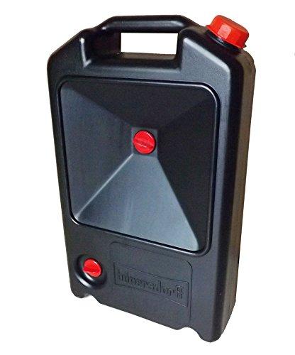 Ölwechsel-Kanister mit Auffangbereich 8l, schwarz, HD-PE, made in Germany