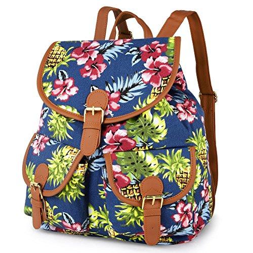 Vbiger Damen Rucksack Damen Daypack Backpack Canvas Rucksack Vintage Rucksack Schulrucksack mit Großer Kapazität