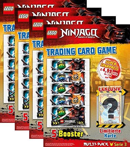 LEGO Ninjago - Serie 3 Trading Cards - Alle 4 Multipacks - Deutsch