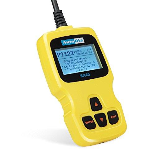 AutoDia SX40 CAN BUS Diagnose OBD2 EOBD Scanner Handscanner auf DEUTSCH