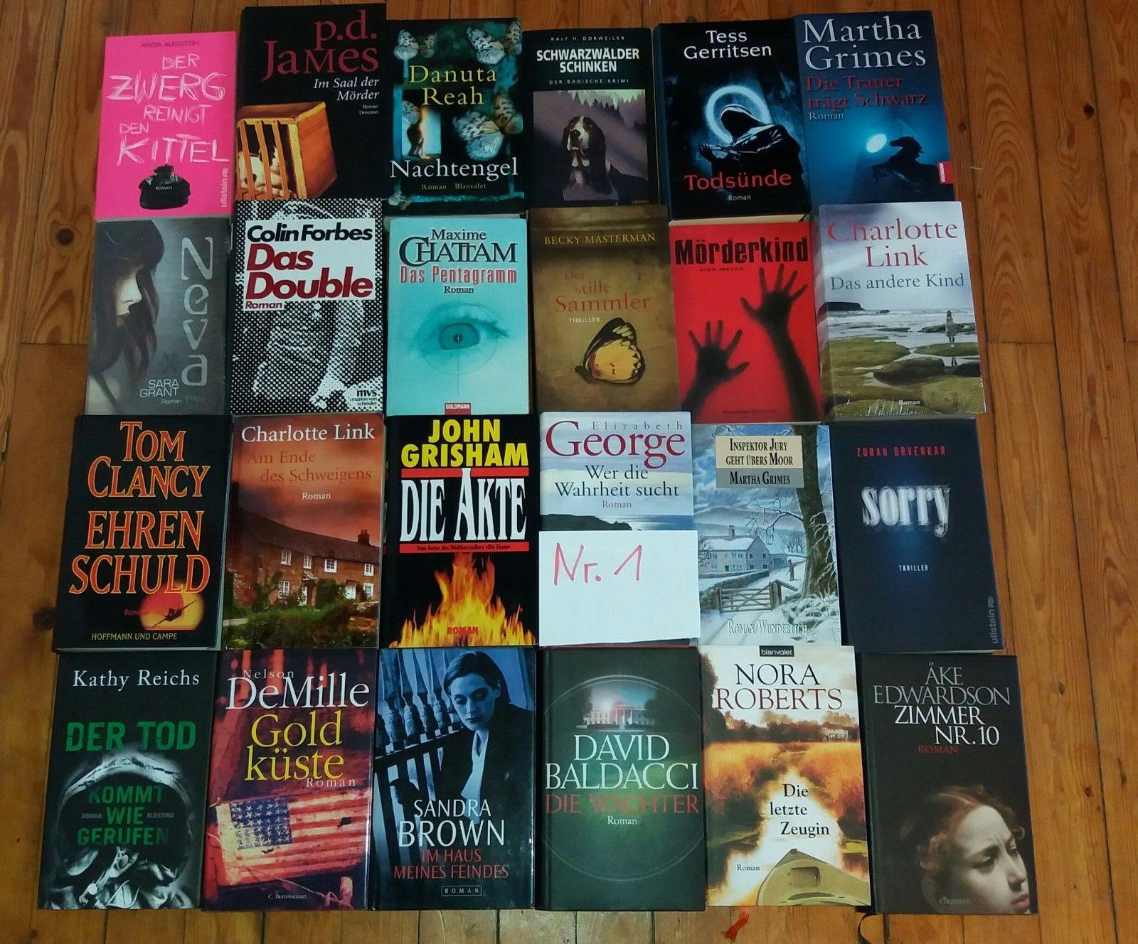 Top Krimi Thriller Romane Bücher Bestseller - Konvolut - Sammlung - Paket - 01