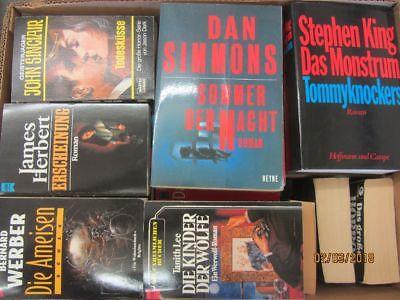 53 Bücher Romane Horrorromane Gruselromane Horror Grusel Herbert  Sinclair u.a.